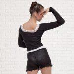 Sansha Knitted Long Sleeved Top