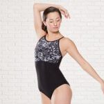 Plume Printed Lace Camisole Leotard